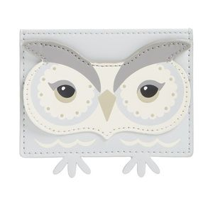 Kate Spade Star Bright Owl Leather Card Holder